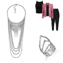 Jewelry for Pink and Black Outfit