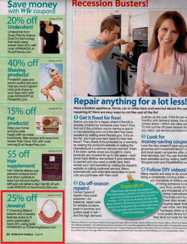 7 Charming Sisters Jewelry in Woman's World Magazine