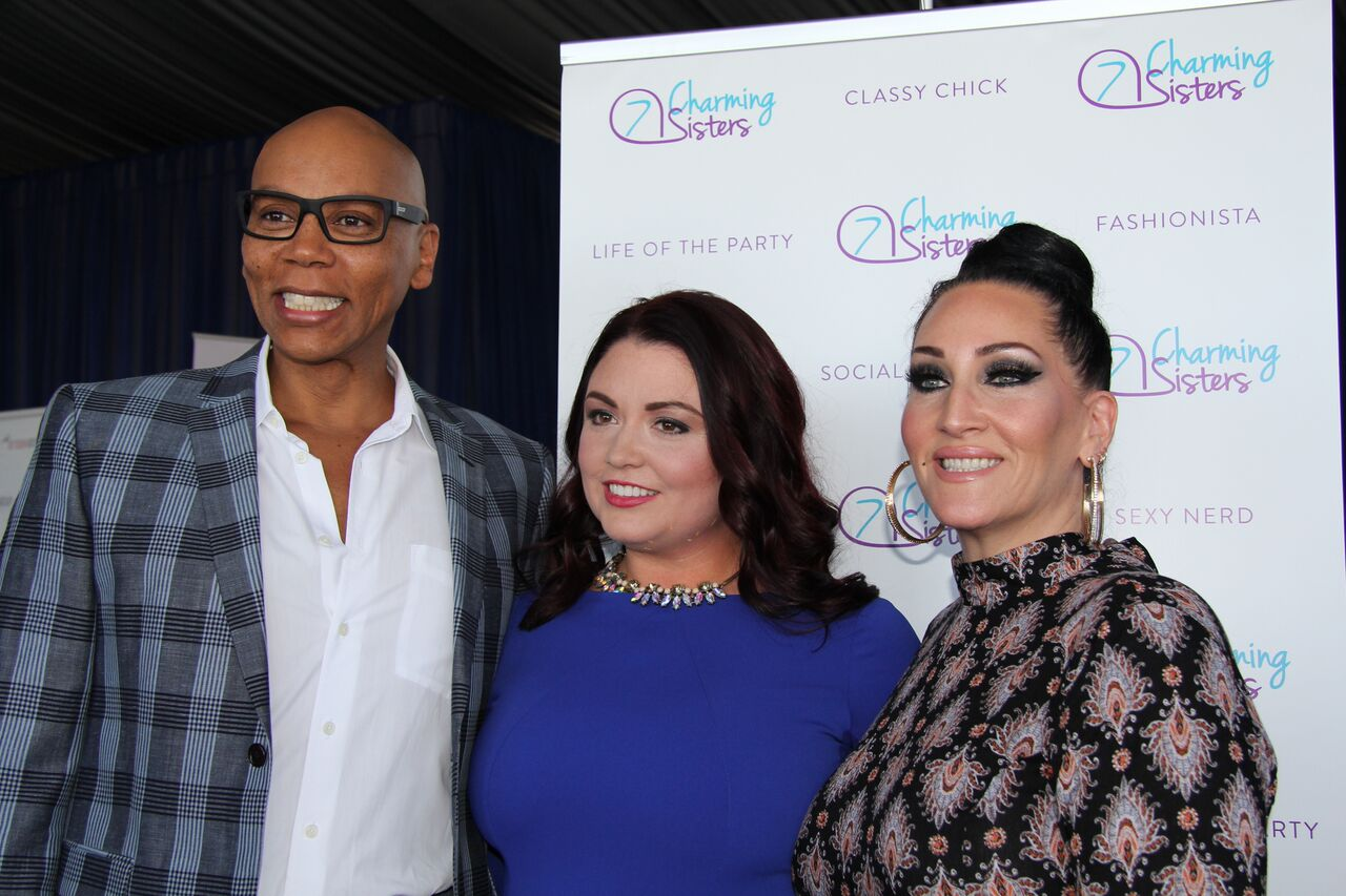 RuPaul RuPaul's Drag Race, with 7 Charming Sisters jewelry company at 2016 Emmy