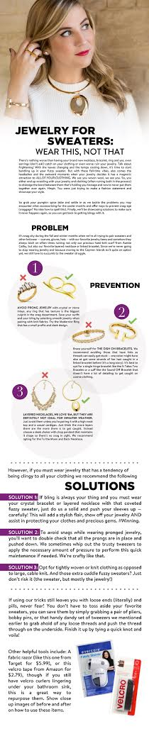 Fall Sweaters and Jewelry Love to Snag, Here's How To Stop the Two From Messing With Your Fashion