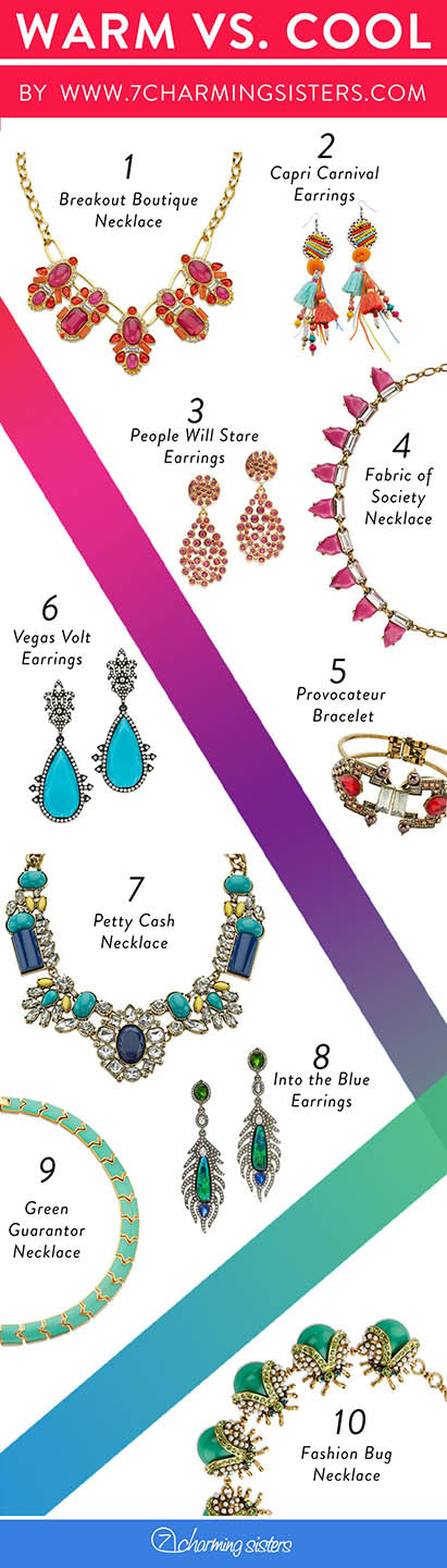 warm and cool jewelry for summer
