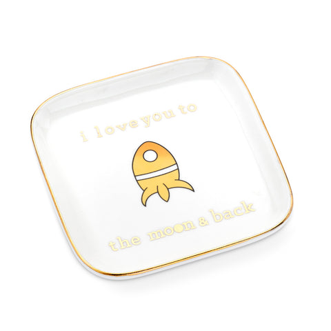 I Love You to the Moon and Back Ring Dish-Accessories-General-7 Charming Sisters, LLC
