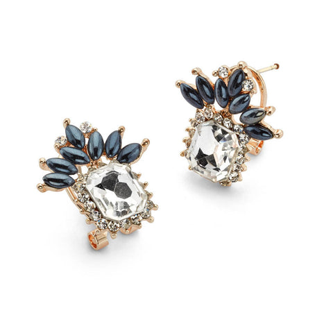 Blue Crystal Stud Earrings Drop Cheap