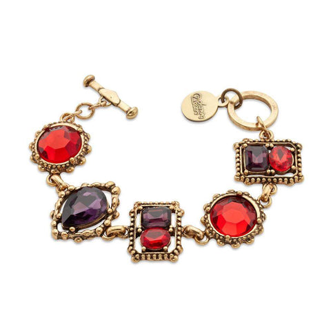 always-sharp-gold-red-crystal-link-bracelet