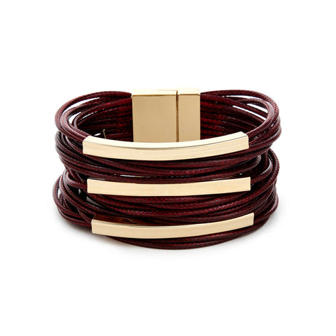 Cheap Red and Gold Layered Bracelet | 7 Charming Sisters