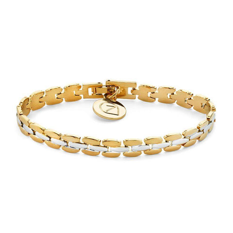 Silver and Gold Chain Tennis Bracelet