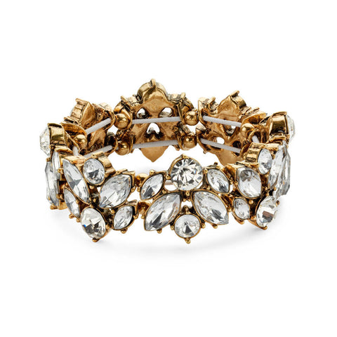 Crystal and Gold Bracelet