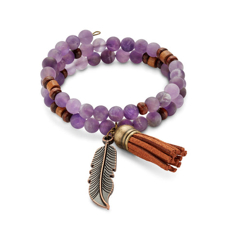 Purple Haze bracelet is a delicate and lovely finish