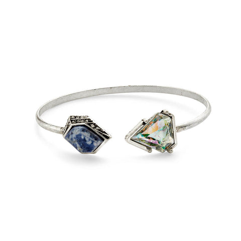 Best Blue Stone and Silver Crystal Bracelet for Women |7 Charming Sisters