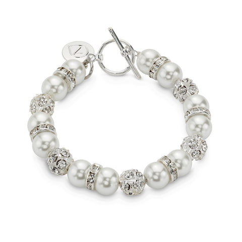 Swarovski Crystal Bead White Lovestruck Bracelet