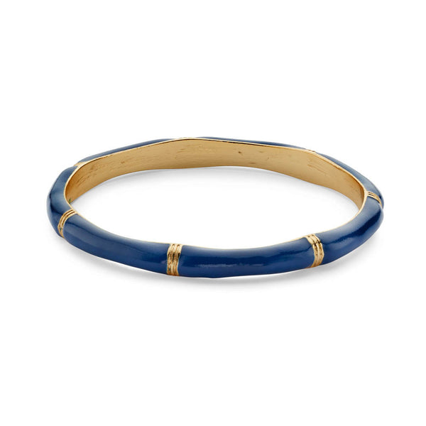 Blue 14k Gold-Plated Bangle Bracelet for Women | 7 Charming Sisters