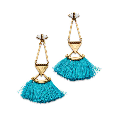 Cheap Blue Tassel Earrings | 7 Charming Sisters