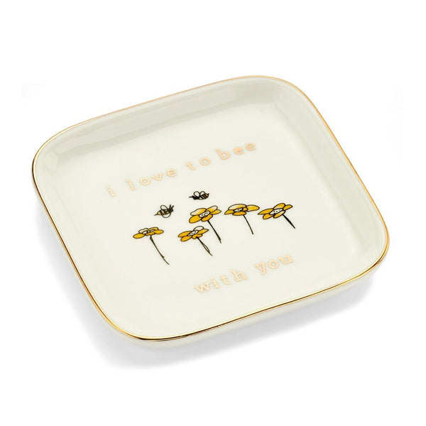 I Love to Bee With You Ring Dish - 7 Charming Sisters, LLC