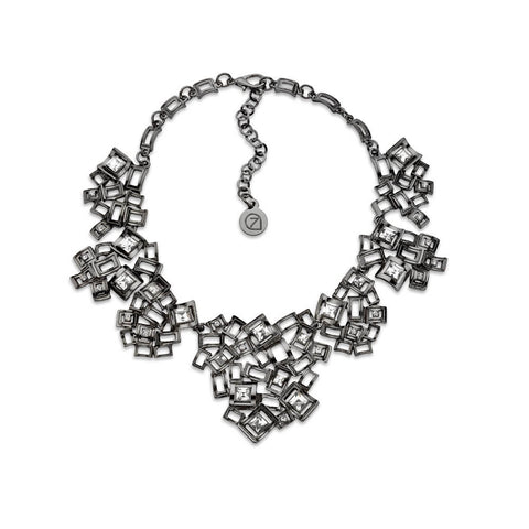 Gunmetal Statement Necklace