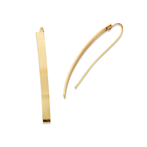 Gold Bar Drop Earrings