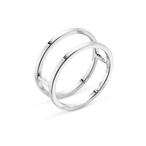 Silver Double Ring Band