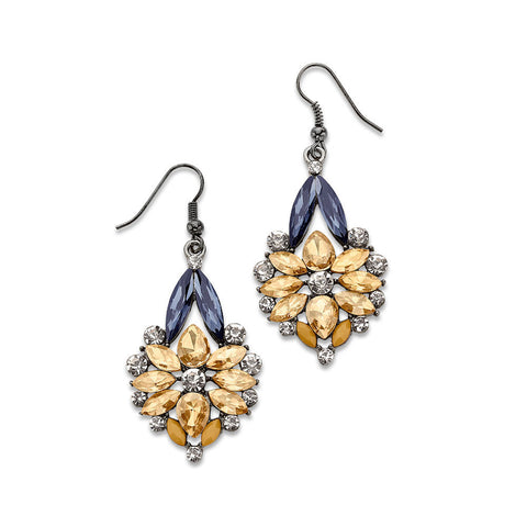 Floral Crystal Statement Earrings