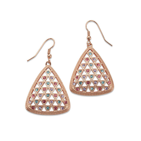 Honeycomb Glitz Earrings - 7 Charming Sisters, LLC