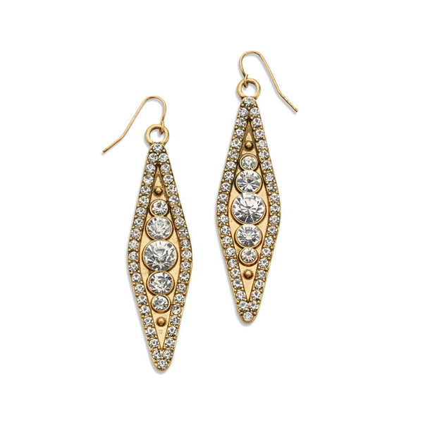 Affordable Bridal 10k Gold-Plated Dangle Earrings Diamond | 7 Charming Sisters