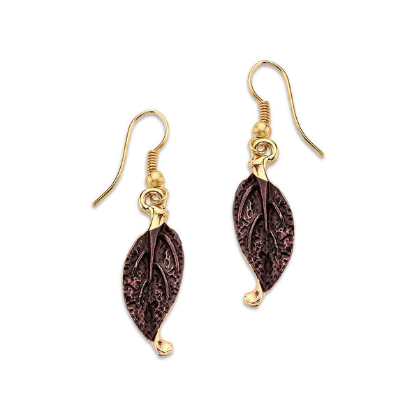 Leaf the Talking to Me Earrings - 7 Charming Sisters, LLC