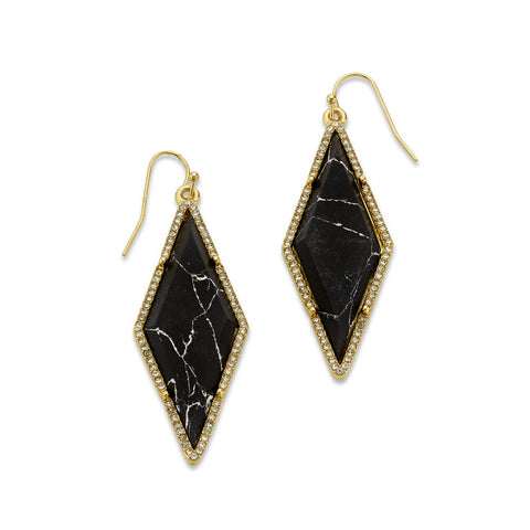 Affordable Black Diamond Dangle Earrings | 7 Charming Sisters