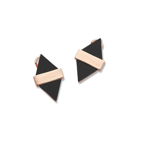 Best Rose Gold and Black Geometric Earrings for Women | 7 Charming Sisters