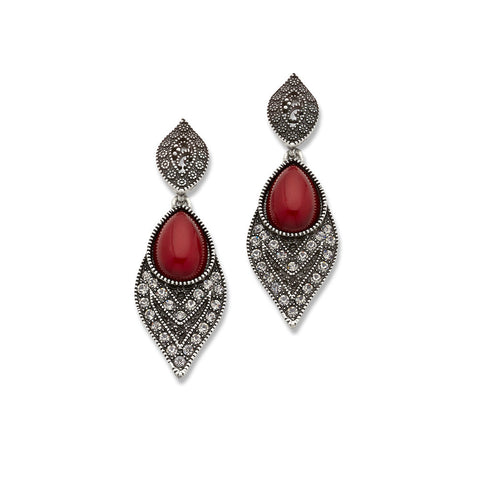 Best Silver and Red Teardrop Earrings for Women | 7 Charming Sisters