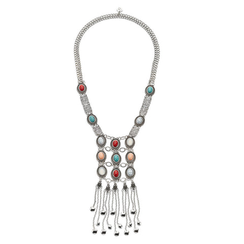 Exotic Exuberance Necklace-Necklace-Kimberly-7 Charming Sisters, LLC