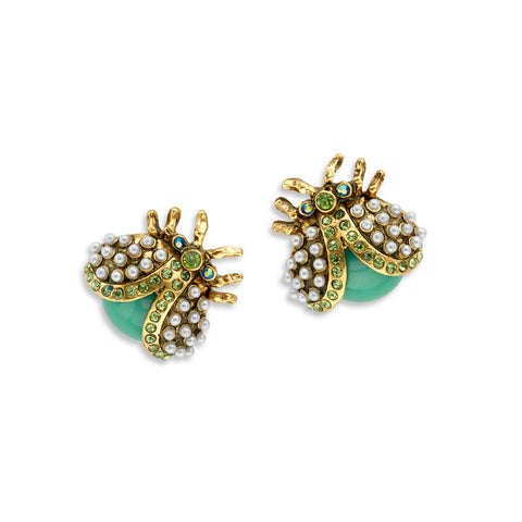 Best Green and Gold Bug Earrings | 7 Charming Sisters