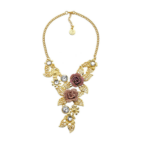 Best Big Gold Flower Statement Necklace | 7 Charming Sisters