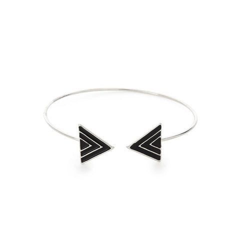Best Black and Silver Cuff Bangle Bracelet | 7 Charming Sisters