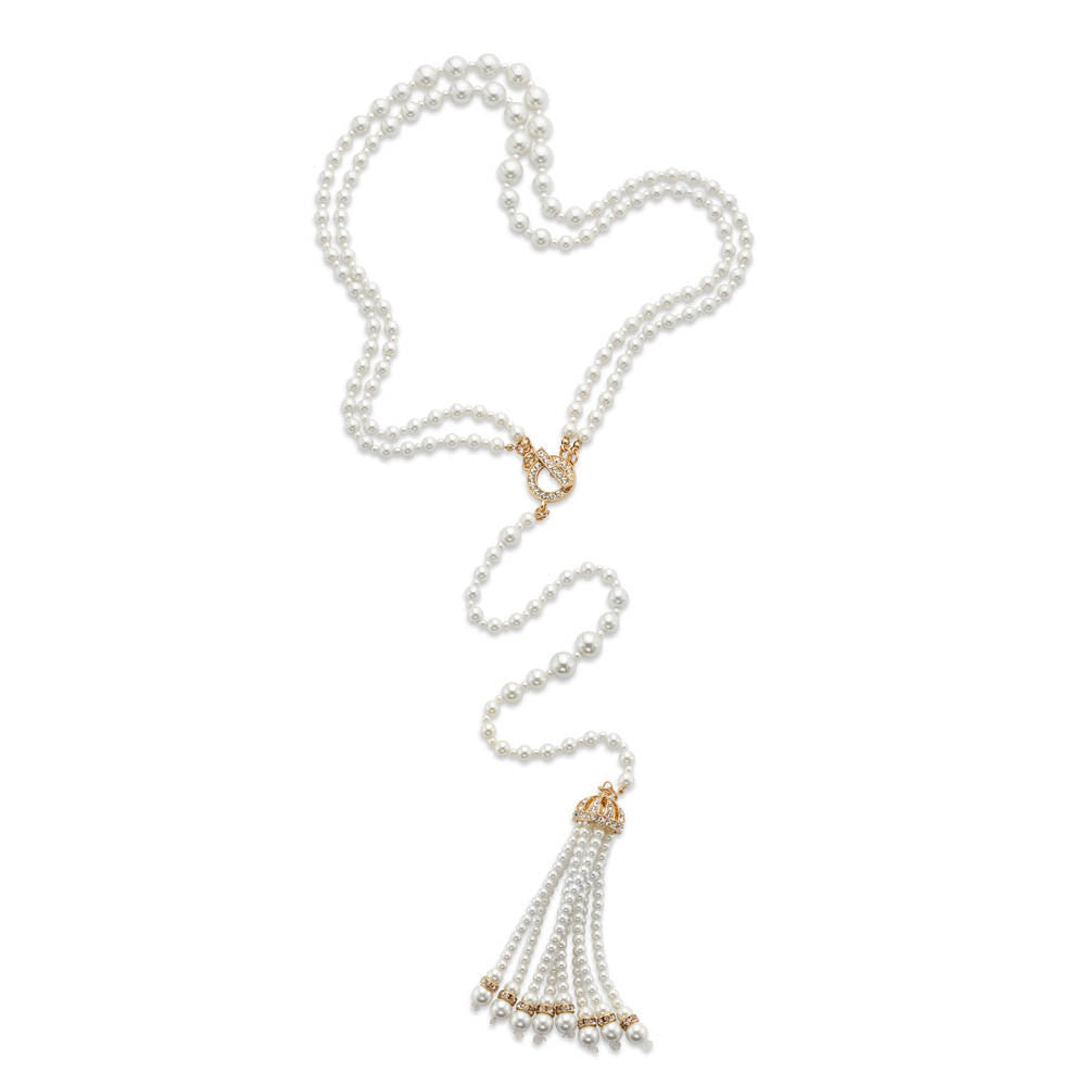 New 1920s Costume Jewelry- Earrings, Necklaces, Bracelets Girl Meets Pearl Necklace $46.99 AT vintagedancer.com