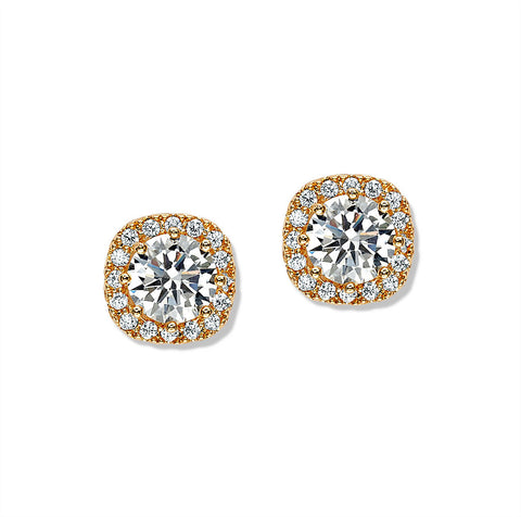 Crystal rhinestone stud earrings