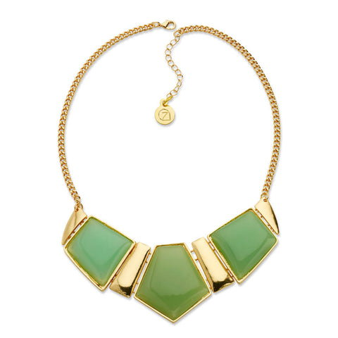 The Green and Gold Standard Necklace-Necklace-Jessica-7 Charming Sisters, LLC