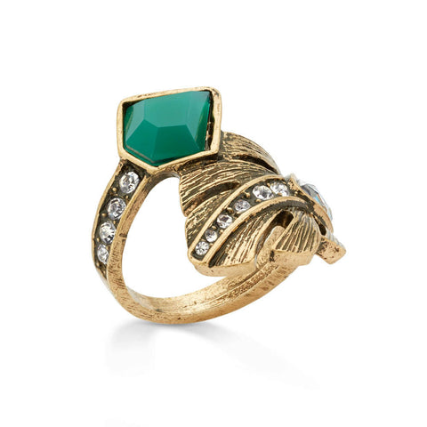in-bloom-gold-green-crystal-leaf-cocktail-ring
