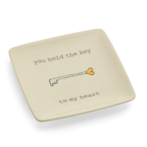 You Hold the Key to My Heart Ring Dish