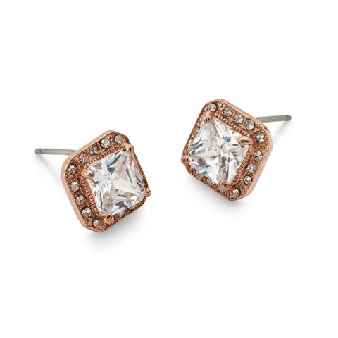 Cheap Silver 14k Gold-Plated Crystal Stud Earrings for Women | 7 Charming Sisters