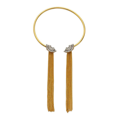 Cheap Long 14k Gold-Plated Tassel Necklace | 7 Charming Sisters