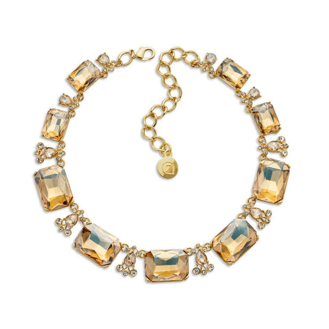 Champagne Crystal Collar Necklace