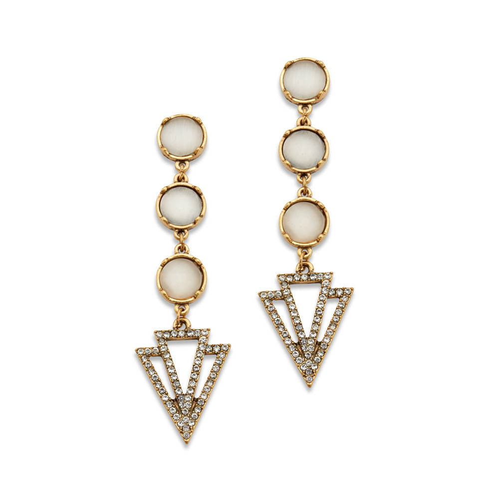 Vintage Style Jewelry, Retro Jewelry Most Wanted Earrings $24.99 AT vintagedancer.com