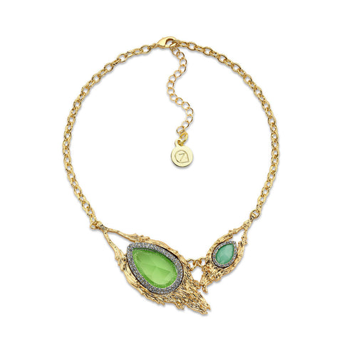 Cheap Green Crystal Statement Necklace