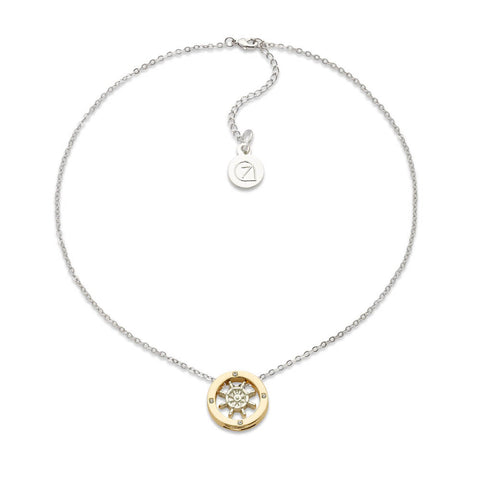Gold Anchors Charm Pendant Necklace