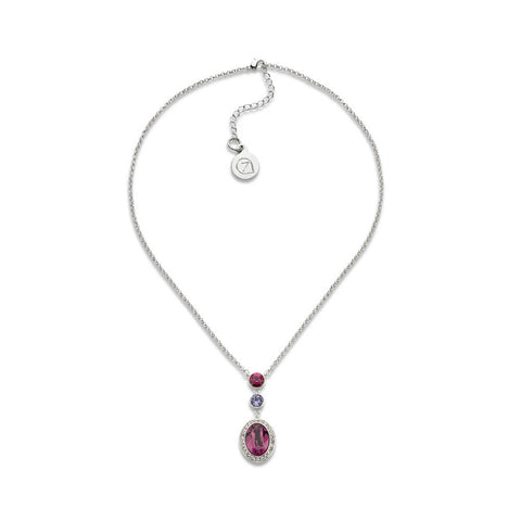 Dormant Purple and Pink Crystal Pendant Necklace