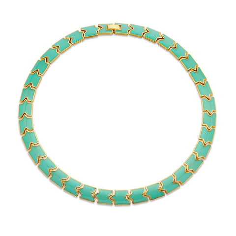 Pastel Green Link Choker Necklace