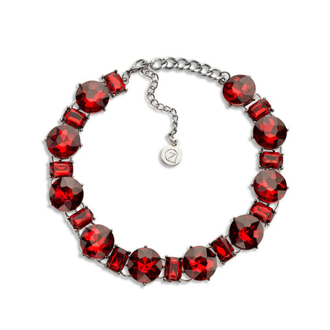 Red Crystal Choker Necklace
