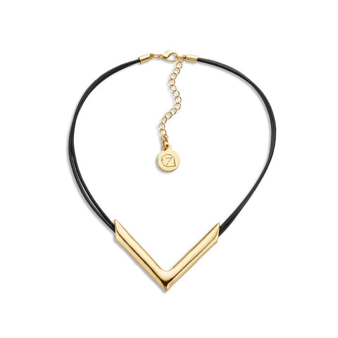 Best Leather and Gold Choker Necklace | 7 Charming Sisters