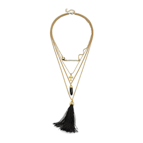 Midnight Powwow Necklace - 7 Charming Sisters, LLC