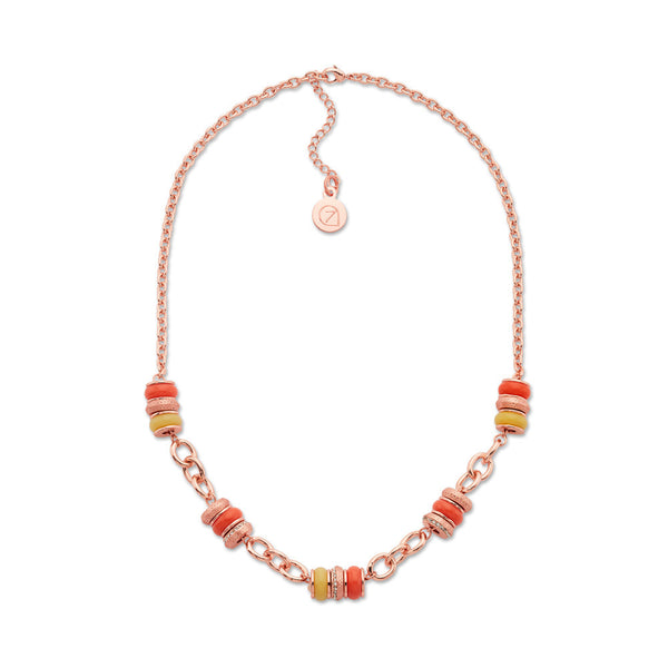 Cheap Rose Gold Beaded Necklace | 7 Charming Sisters
