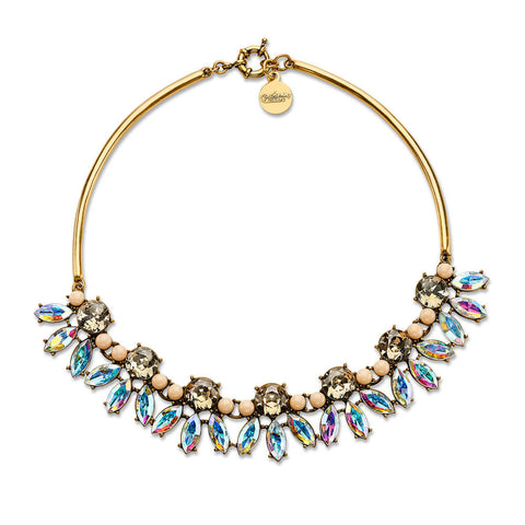 Big Cheap Antique Crystal Bib Statement Necklace
