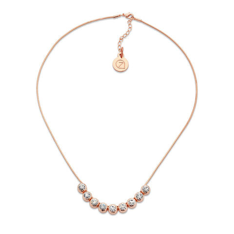 Delicate Rose Gold Crystal Necklace